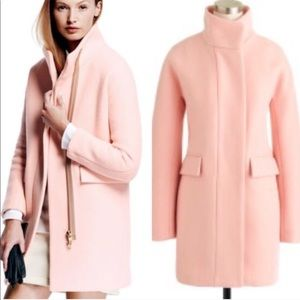JCrew Stadium Cloth Cocoon Coat in Gossamer Peach